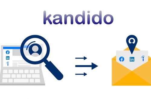 Kandido verbonden met facebook